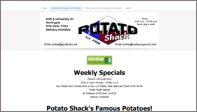 Potato Shack Northgate BCS